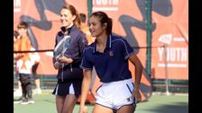 Duchess Catherine plays tennis with Emma Raducanu