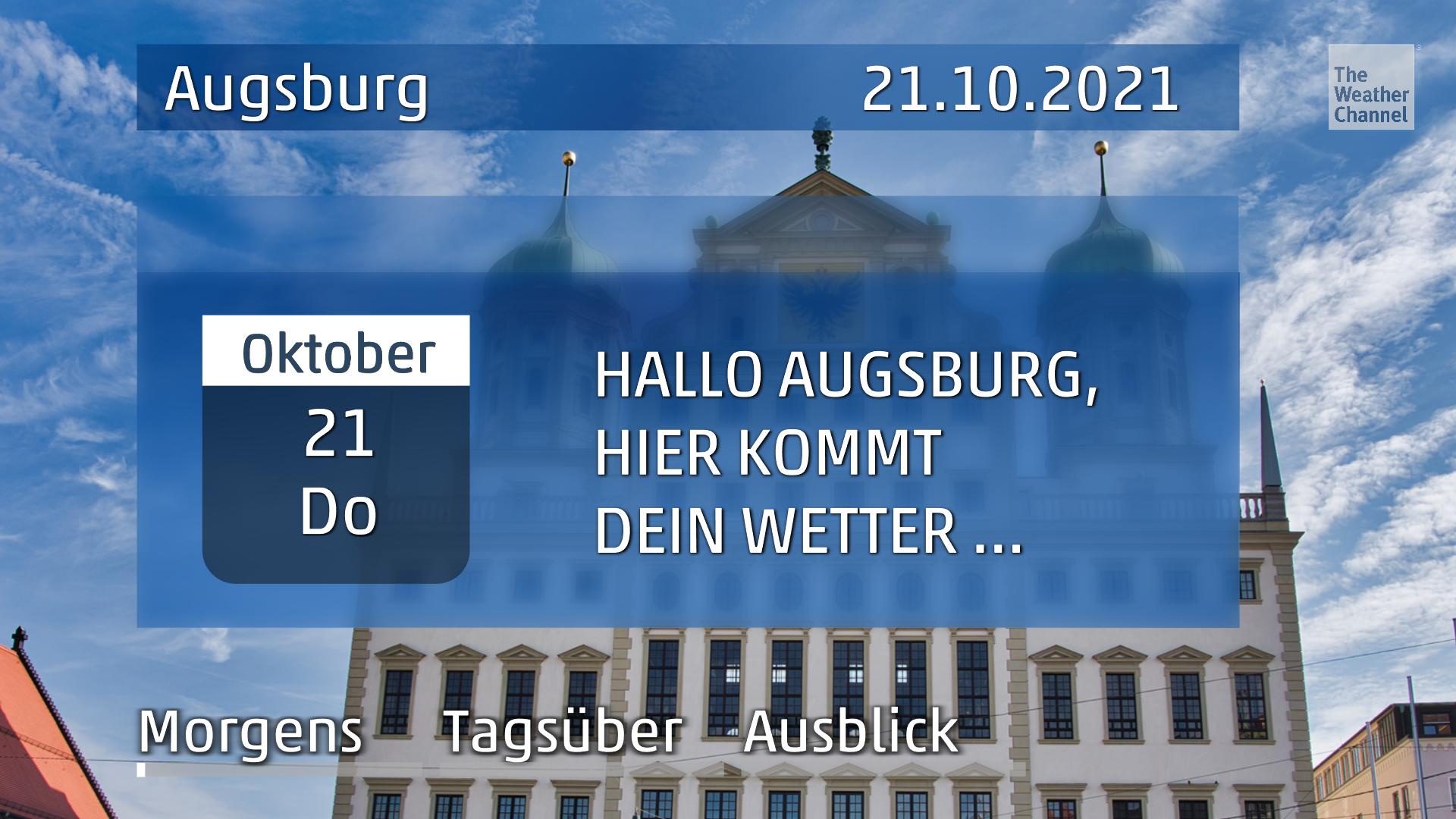 Das Wetter für Augsburg am Donnerstag, den 21.10.2021 – Wetterdienst warnt vor Sturm