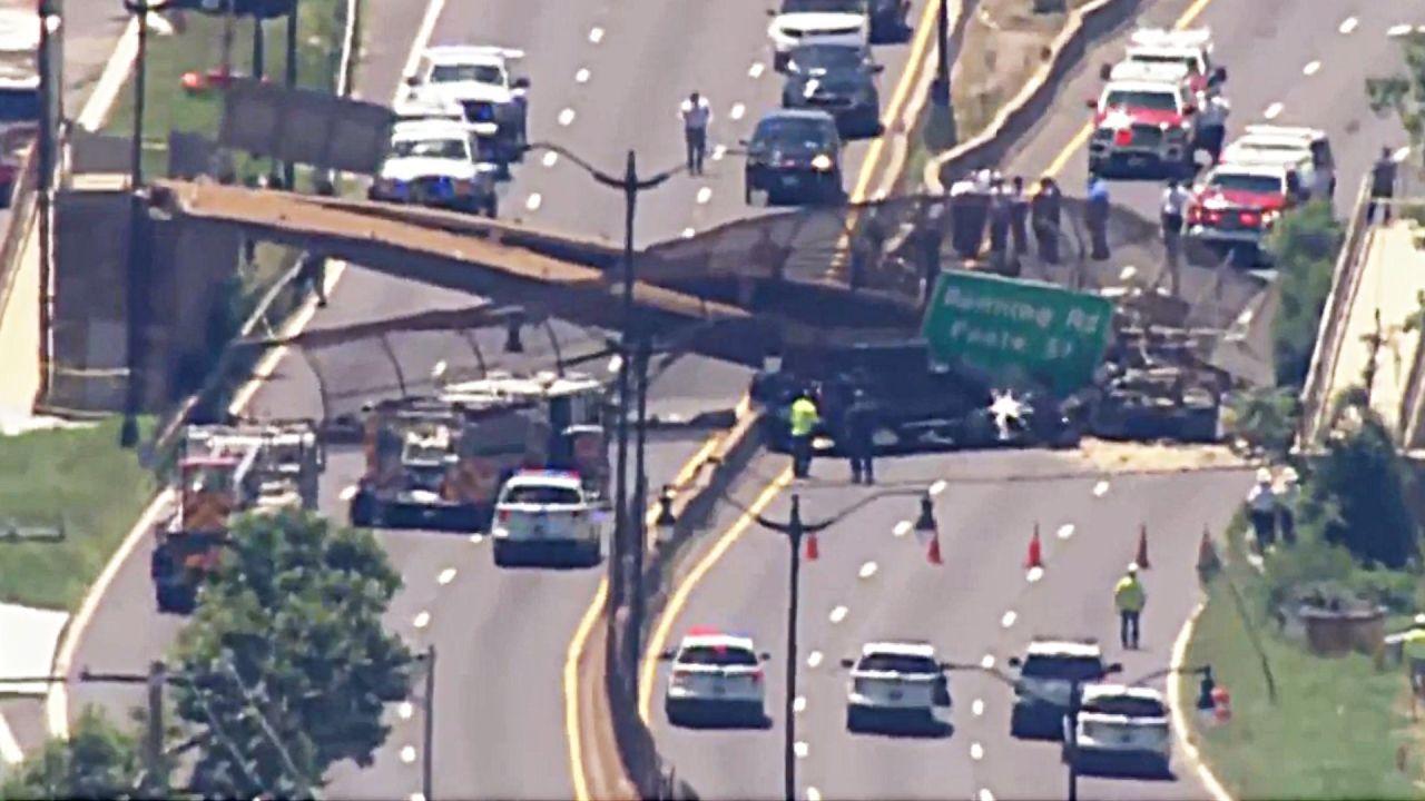 LKW war wohl zu hoch: Fußgängerbrücke in Washington D.C. eingestürzt
