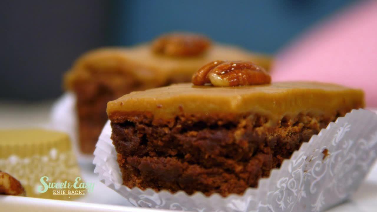 Schokoladen-Brownie mit Cappuccinocreme