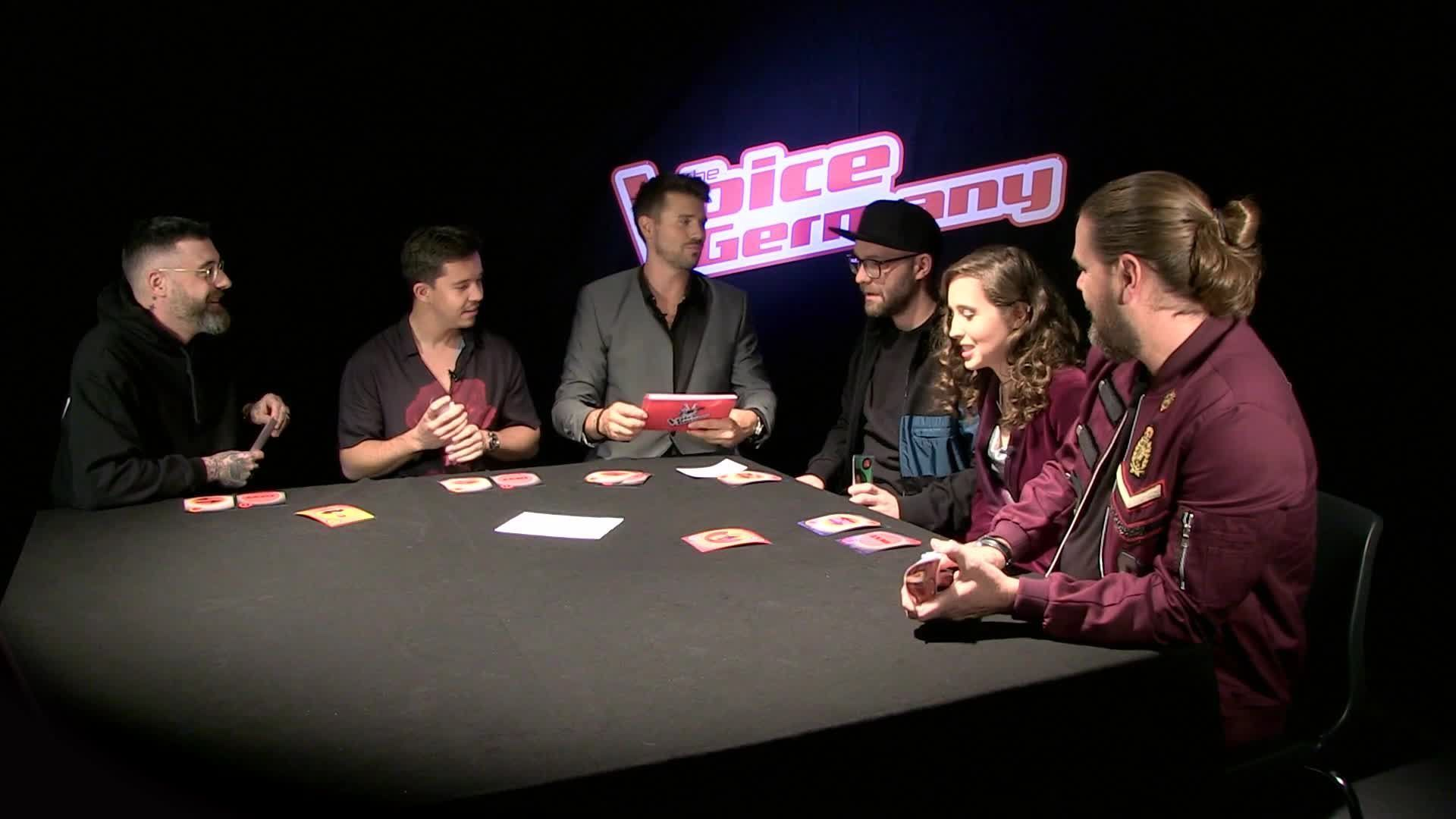 Fragen-Poker mit den Coaches von THE VOICE OF GERMANY