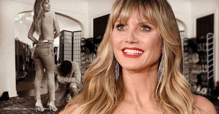 Oben ohne: Heidi Klum packt Hans und Franz aus