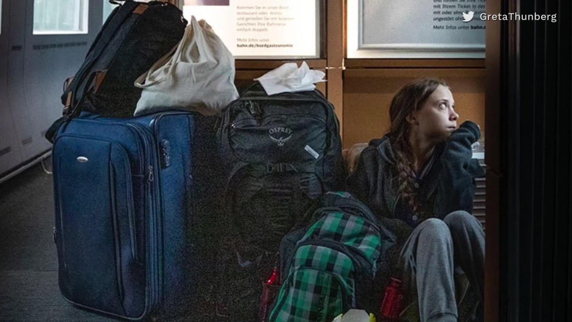 Überfüllter Zug: Kein Platz für Greta Thunberg bei der Deutschen Bahn