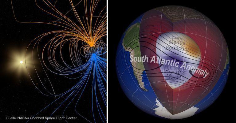 Gefährliche Anomalie: NASA entdeckt Spaltung des Erdmagnetfelds