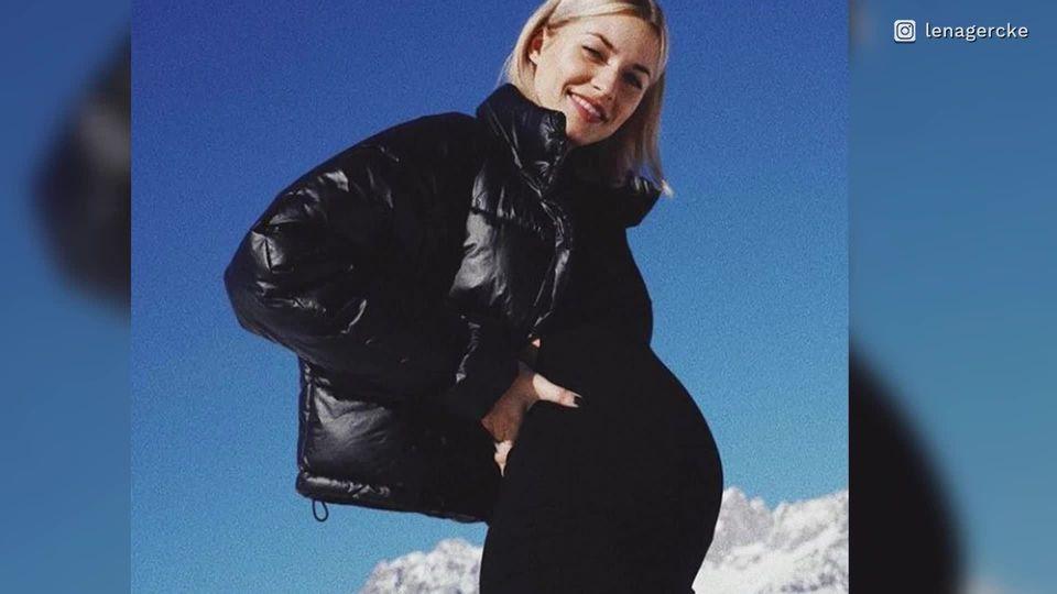 Lena Gercke ist schwanger und überrascht Fans mit Babybauch