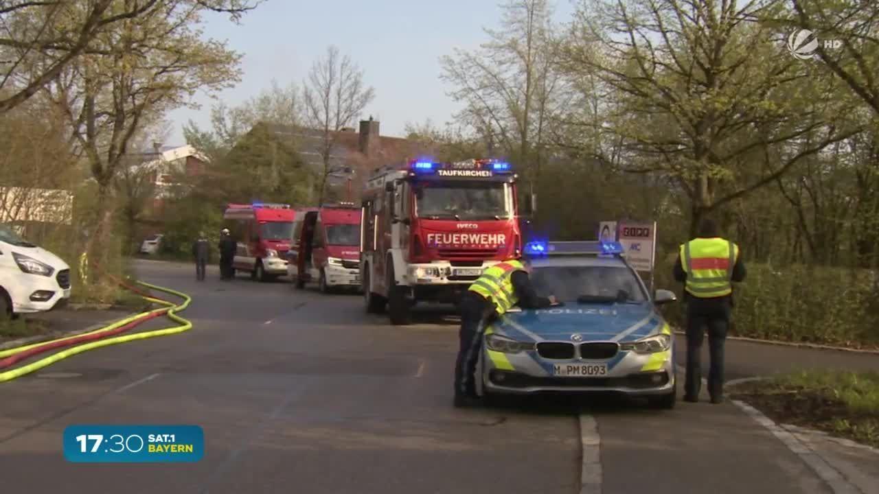 Oberhaching in München: Impfzentrum in Flammen