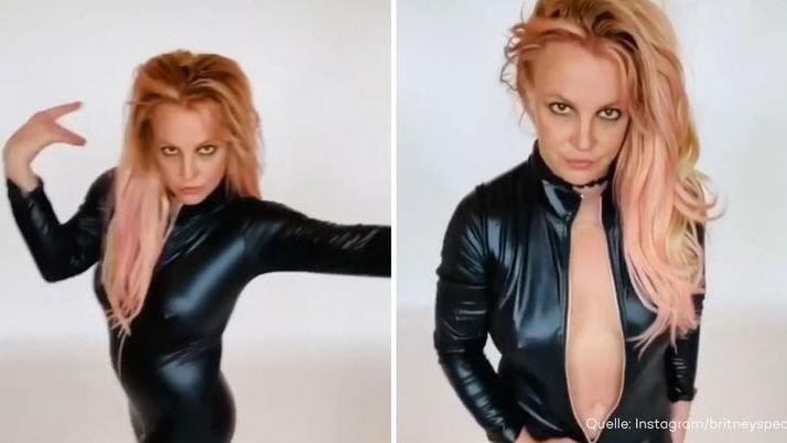 Das Zappeln geht weiter: Britney Spears tanzt in skurrilem Leder-Look