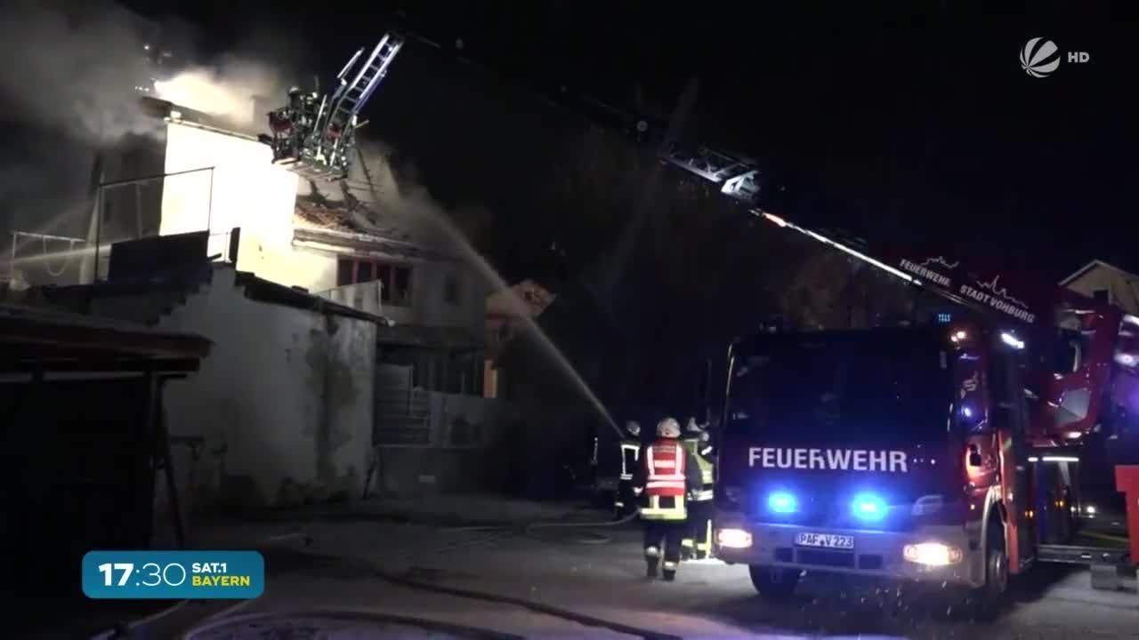 Geisenfeld: Drei kleine Kinder bei Wohnhausbrand schwer verletzt